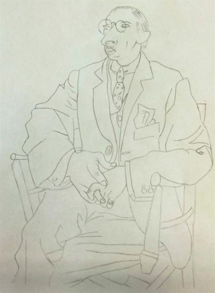 Summer Camp Artwork- Drawing of an elderly man
