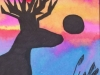 Summer Camp Artwork- Silhouette painting