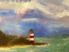 Summer Camp Artwork- Painting of lighthouse