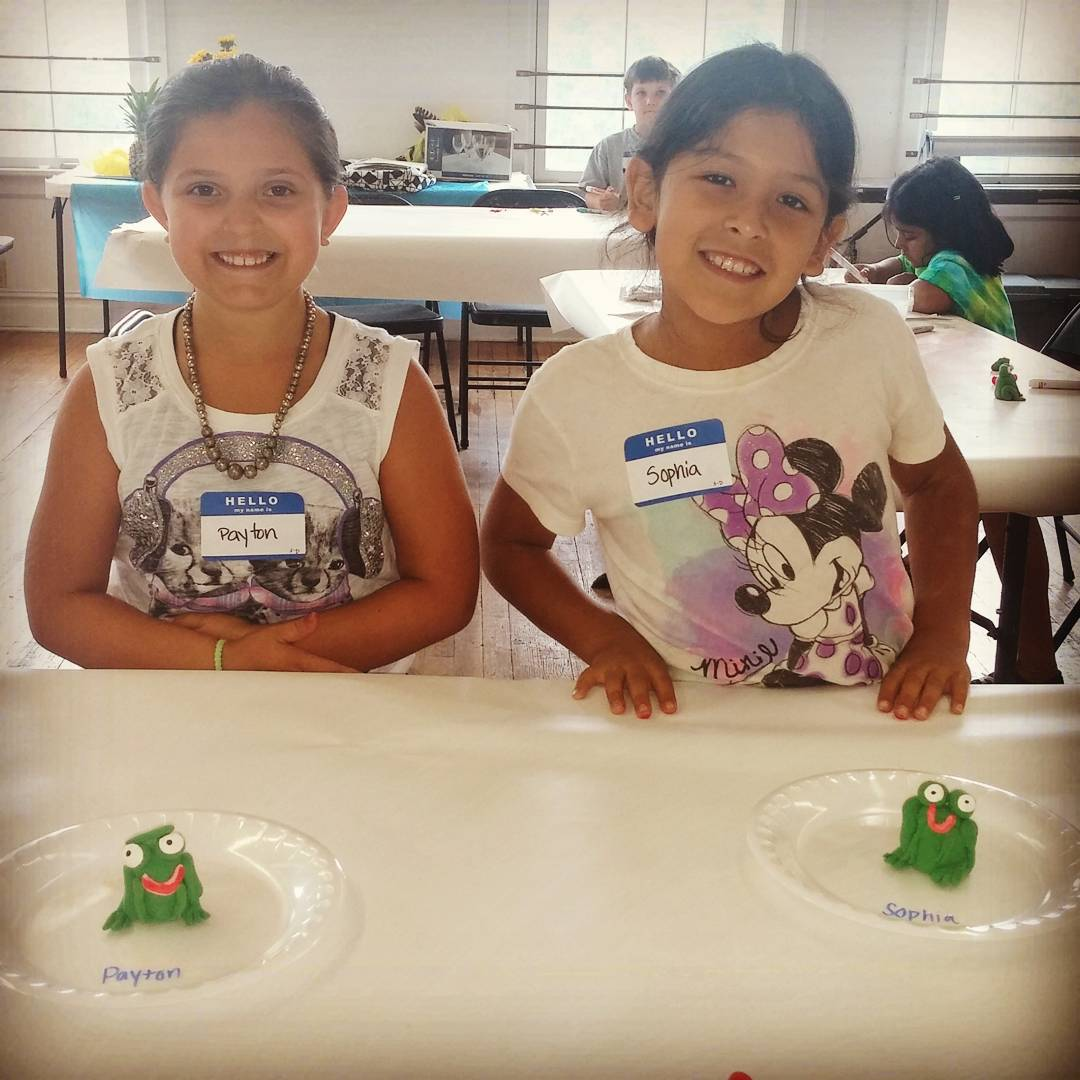 Campers from the Enchanted Forest session showing off their creations!hellip
