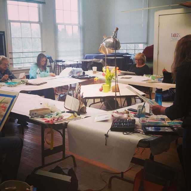 Tuesday's Watercolor Class #thecenterforcontemporaryart #ccabedminster #watercolor #paint #artcommunity #artclass #njartRead…