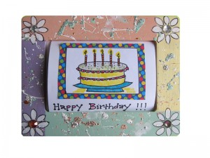 Photo of a decorated Birthday frame
