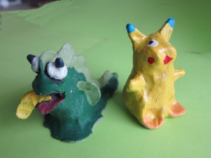 "Photo of clay creatures from the ""Squish"" theme"