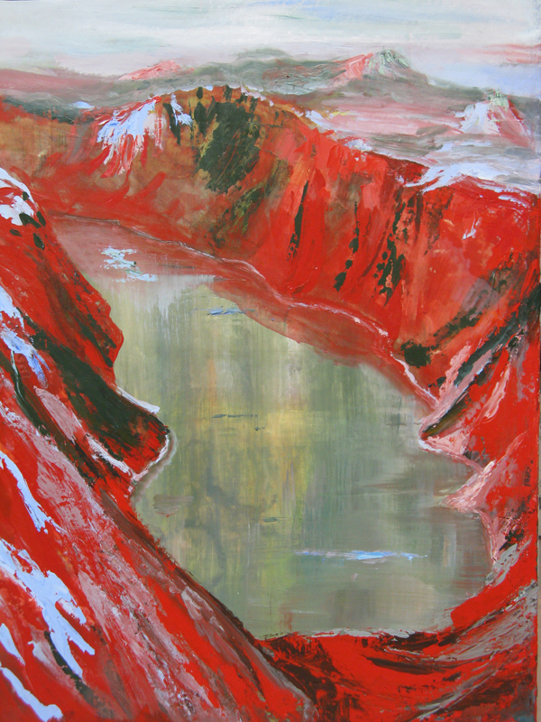 Red Fjord by Judy Simonian 24x32