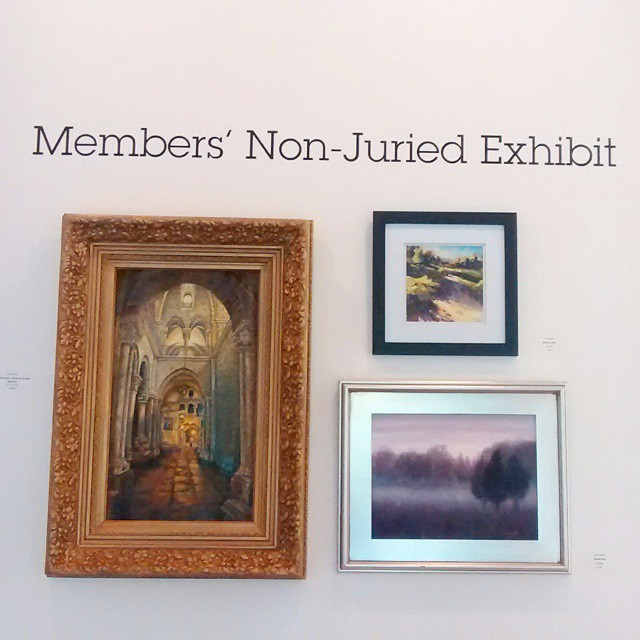 The Opening Reception of the NonJuried Members Exhibit is happeninghellip