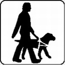 Symbol for guide dogs welcome
