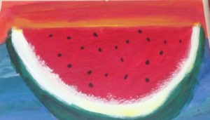 Watermelon painting Created by Andrea in 2015