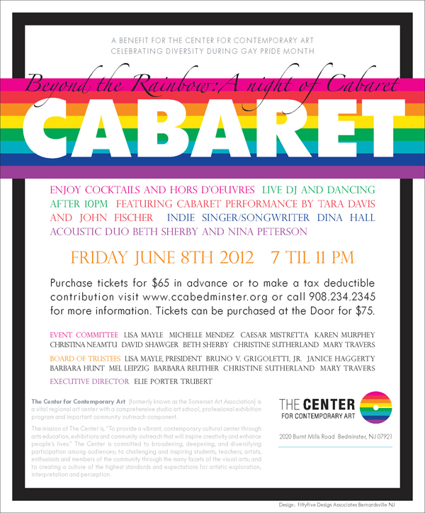 Evite for Beyond the Rainbow: A Night of Cabaret