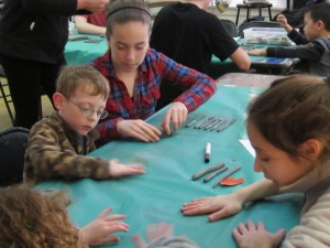 Photo of an Art Class for Children with Special Needs