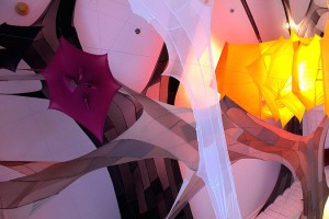 Pantyhose installation by Katie Truk